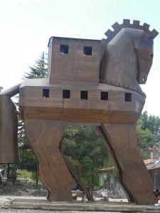 Trojanisches Pferd aus Holz